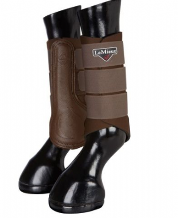 LeMieux Grafter Brushing Boots - Brown